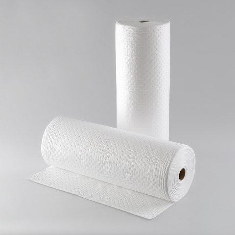 Oil Absorbent Pads in Roll - Graminton Enterprise Ltd. - Mold ODM/OEM Non-woven fabrics & air laid paper 鉅瑋實業有限公司